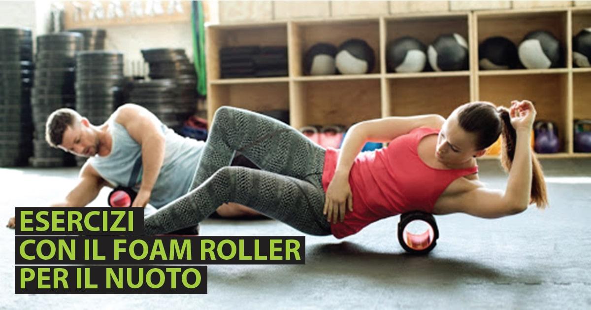 Ateti mentre utilizzano il Foam roller