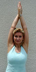 Nuoto stretching dei muscoli del dorso