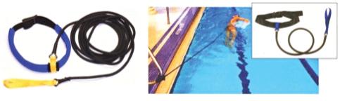 Corde elastiche per il potenziamento del nuoto