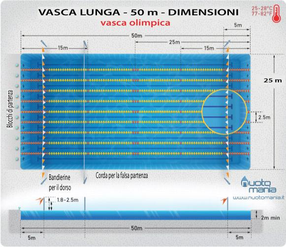 Dimensioni vasca lunga nuoto