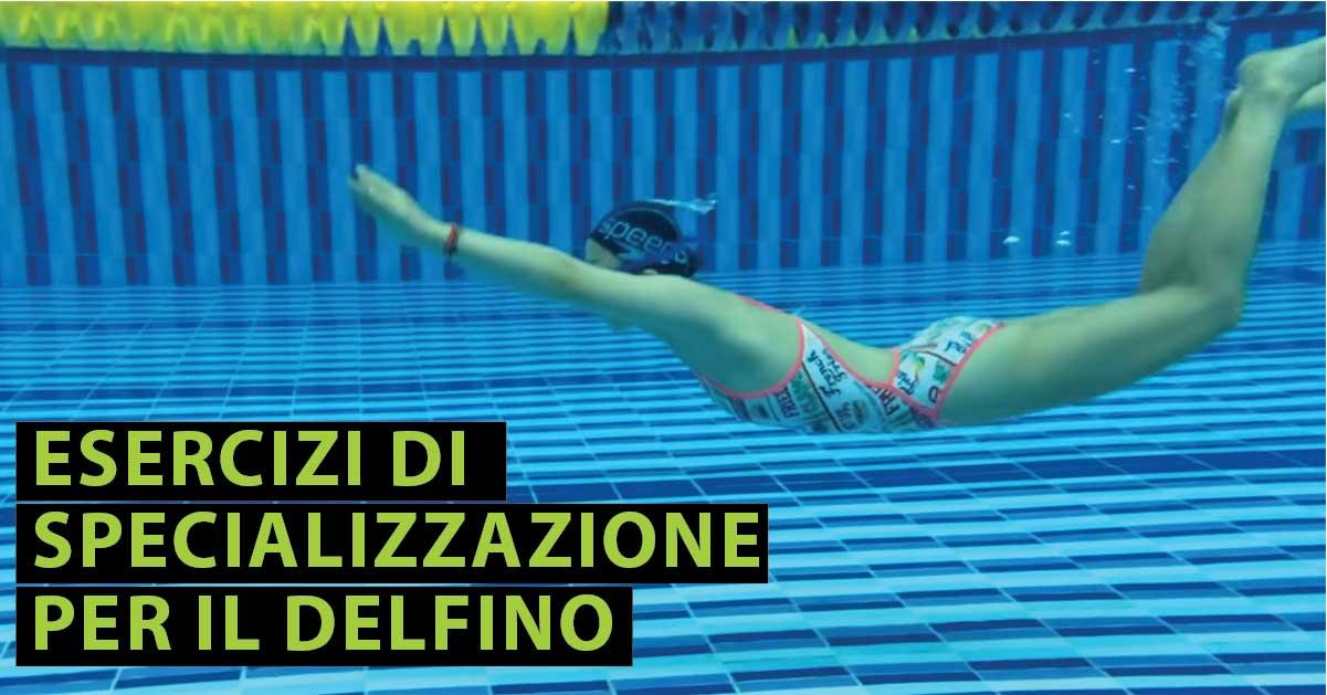 Nuoto esercizi specializzazione delfino